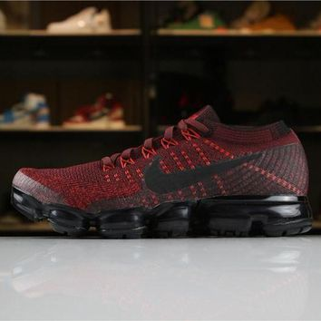 Nike Air VaporMax Flyknit  2018 Red 849558-601 Sport Running Shoes - Best Online Sale