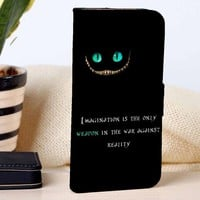 Cheshire Cat Quotes | Disney | Movie | custom wallet case for iphone 4/4s 5 5s 5c 6 6plus case and samsung galaxy s3 s4 s5 s6 case