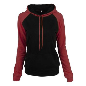 Autumn New sudadera mujer Patchwork Hoodies womens pullover sweatshirt Female Tracksuit Casual long sleeve top women