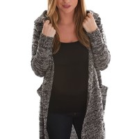 Grey Skies Long Hooded Cardigan
