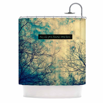 """Robin Dickinson """"May All Your Dreams Come True"""" Blue Nature Shower Curtain"""