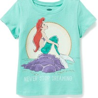 "Disney© Little Mermaid ""Never Stop Dreaming"" Tee for Toddler Girls 