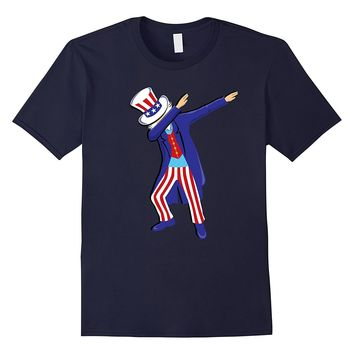 Dabbing Uncle Sam Shirt Funny 4th of July Boys Girls Adults