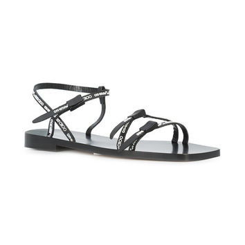 Off-White C/O Jimmy Choo Black Jane Sandals - Farfetch