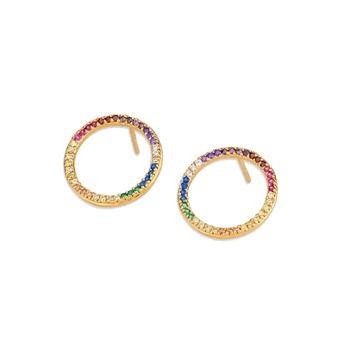 Dylan Skye Rainbow Open Circle Studs