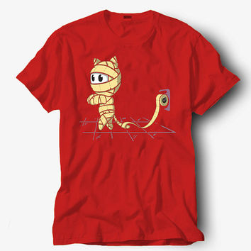 Mummy cat shirt, Hot product on USA, Funny Shirt, Colour Black White Gray Blue Red