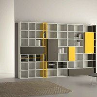 Open lacquered bookcase SPEED 22 Speed Collection by Dall'Agnese | design Imago Design, Massimo Rosa