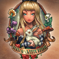 Follow The White Rabbit. Art Print by Tim Shumate | Society6