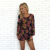 Dispersed Floral Romper