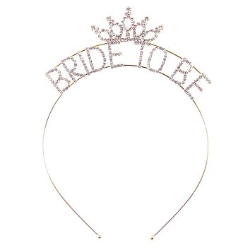 Bride To Be Headband in Gold or Silver