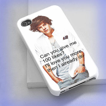 Cover phone case Harry  style 1D, one direction for iPhone 4/4s, iPhone 5/5s/5c, iPod 4/5, Samsung Galaxy s3/s4