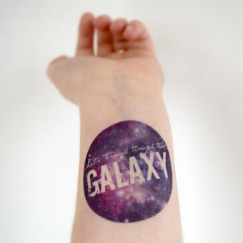Temporary Tattoo Galaxy Tattoo - Space, Purple, Galaxy, unique, circular