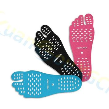 20piars Sport flip flop Protective gear foot protector Unisex Beach Foot Patch Pads Insoles lady Anti-skid Shoes Mats Silicone