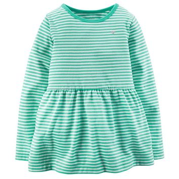 Carter's Striped Peplum Dress - Baby Girl, Size: