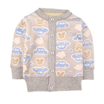 Spring Baby Girls Sweaters Toddler Boys Velvet Cardigan Sweater Kids Warm 3D Cartoon Outerwear Baby Pullover Winter Clothes