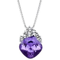 Neoglory Purple Swarovski Element Crystal Water Pendant Necklace Jewelry 18""