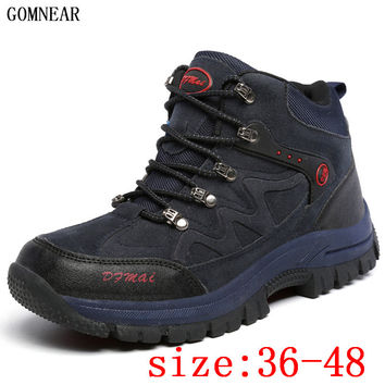 GOMNEAR Men And Women Big Size Winter Outdoor HIking shoes breathable hunting boots trekking tourism Trend camping warm sneaker