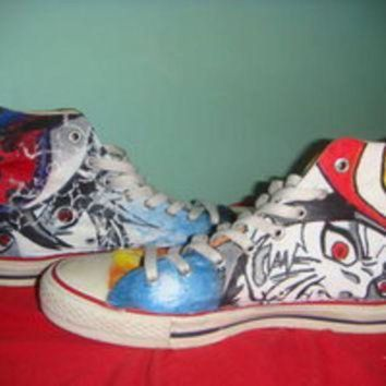 CREYON hand painted converse sasuke and naruto custom converse sneakers