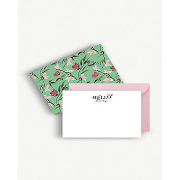 BERINMADE Imperial Gardens notecards pack of eight