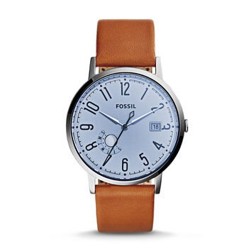 Vintage Muse Three-Hand Date Dark Brown Leather Watch