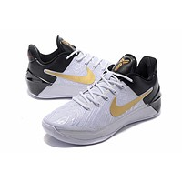 nike men s kobe a d ep white black gold basketball shoe size us7 12  number 1