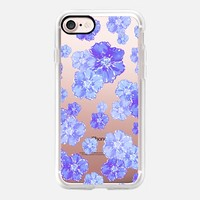 Blossoms Blue - Transparent/Clear Background iPhone 7 Case by Lisa Argyropoulos | Casetify