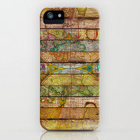 Around the World in Thirteen Maps iPhone & iPod Case by Maximilian San
