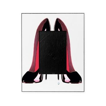 PAIR OF BLACK STILETTO SHOES ART PICTURE FRAME