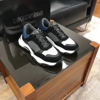2020 A X Armani Exchange Men's Low Top Lace Up Sneaker black Fashionable Casual LOW Top Monogram Casual Breathable  running Leisure Sports Shoes Sneakers Shoes Flat Shoe best quality
