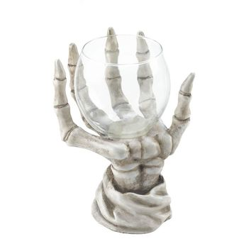 Skeleton Hand Candle Holder