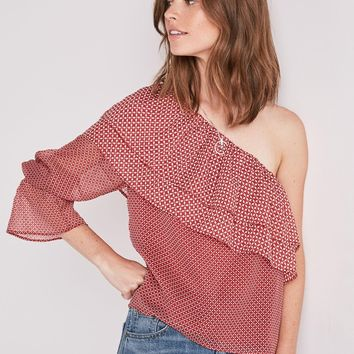 Lucky Brand One Shoulder Top