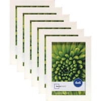 "Mainstays Linear 4"" x 6"" White Frame, Set of 6 - Walmart.com"