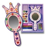 Melissa & Doug Wooden Princess Mirror - DYO