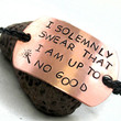 Hand Stamped Harry Potter ID Bracelet on Faux by oneeyedfox