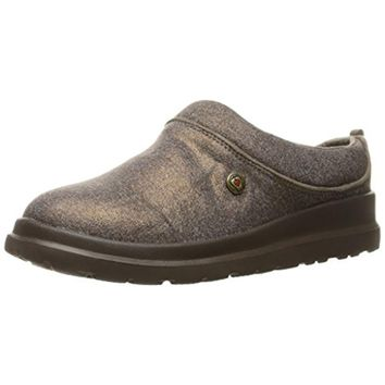 Skechers Womens Cherish Sleigh Ride Metallic Knit Clog Slippers