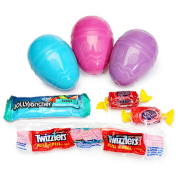 Twizzlers and Jolly Rancher Candy Filled Plastic Eggs Assortment: 12-P