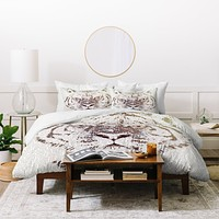 Belle13 The Intellectual Tiger Duvet Cover