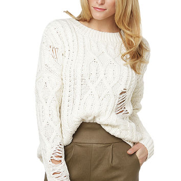 JOA Staying In Sweater - Ivory