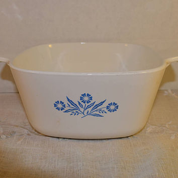 Corning Ware Blue Cornflower P-1 3/4-B Dish Vintage Casserole Baking Bowl  1 3/4 QT Made in USA Corning Ware Cookware Bakeware Oven to Table