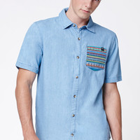 Young and Reckless Alpaca Short Sleeve Button Up Shirt at PacSun.com