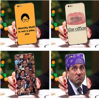 Smmna Silicone Case For iPhone 7 Case Michael Scott The Office Funny Humor 5 cell phone Cover For iPhone7 Plus 8 Plus X 6 6s 5S