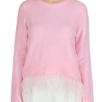 Feather Sweater Pink