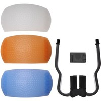 Universal 3 Color Diffuser Filter Set for Pop-Up DSLR Camera Flashes - Walmart.com