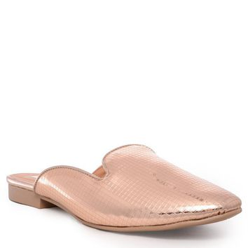 Regent Rose Gold Metallic Mule Shoe