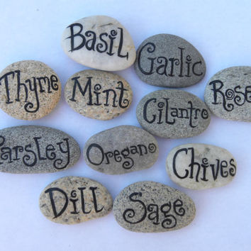 Herb Markers, Garden Markers, your choice of 6