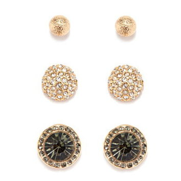 Faux Gem Stud Set