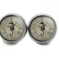 Clock Stud Earrings,  Seahorse  Earrings For Women