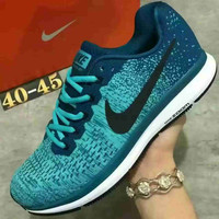 """NIKE"" Sports Knitted jumper wire AIR ZOOM PEGASUS shoes fashion shoes Green"