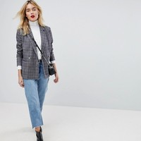 Vero Moda Check Double Breasted Blazer at asos.com