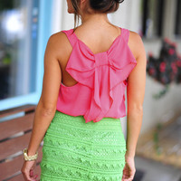 Love Me More Bow Blouse: Coral | Hope's